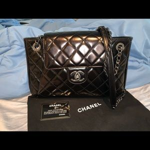 Authentic Chanel Seoul glazed calfskin medium bag
